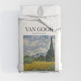 Van Gogh - Wheatfield with Cypresses Comforters
