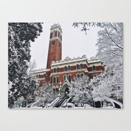 vandy in the snow Canvas Print