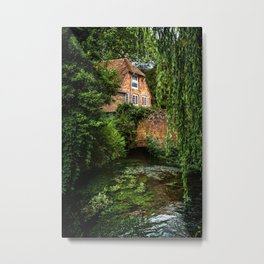 House By The River Metal Print