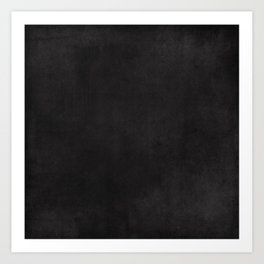 Simple Chalkboard background- black - Autum World Art Print