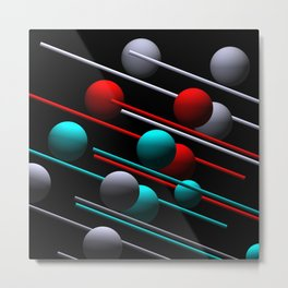 flying balls 3 colors Metal Print