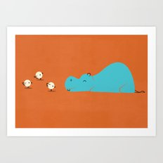 Hungry Hippo Art Print