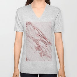 Ripples of Rose and Cream Marble Unisex V-Neck