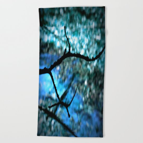 Turquoise Blue Nature Abstract Beach Towel