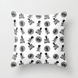 black lives matter seamless pattern Throw Pillow