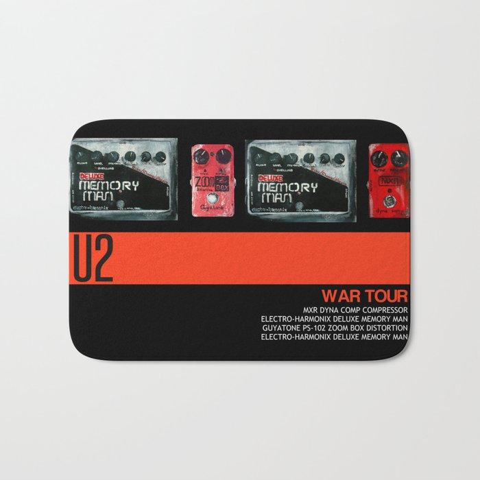 The Edge War Tour Pedalboard  Bath Mat