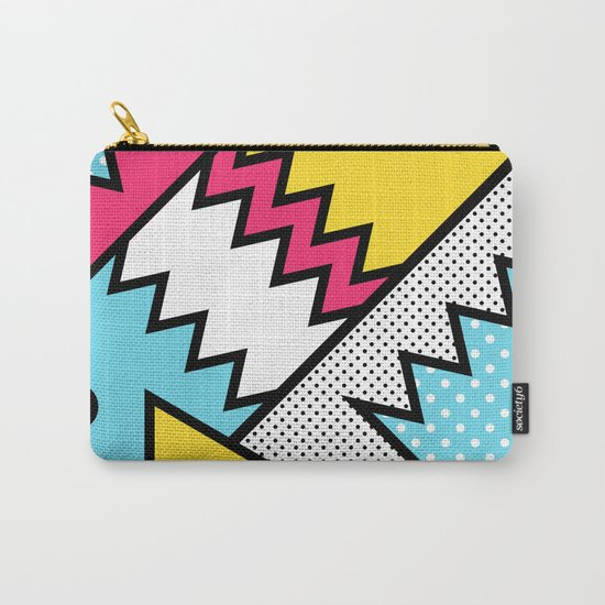 ZigZag 80s Memphis Pattern Carry-All Pouch
