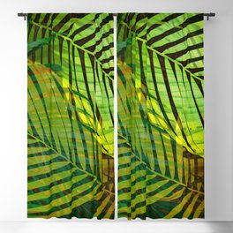 TROPICAL GREENERY LEAVES no1 Blackout Curtain