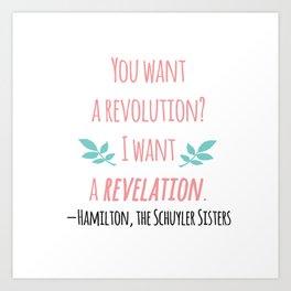 THE SCHUYLER SISTERS | HAMILTON Art Print