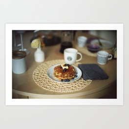 Butter Pancakes Breakfast Art Print