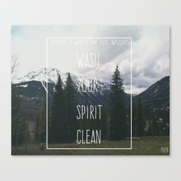 Wash your spirit clean.  Canvas Print