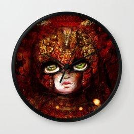 Roaring Red Carnival Wall Clock