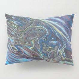 Oil Slick Flow - Acrylic Pour Original Painting Art Pillow Sham