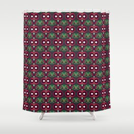 Eyes Red Blue Shower Curtain