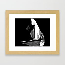 Two Curious Framed Art Print