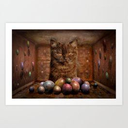The Boss of the Balls Art Print