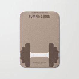 No707 My Pumping Iron minimal movie poster Bath Mat