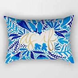 As If – Navy & Gold Rectangular Pillow
