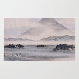 Utagawa Hiroshige - Fuji Marsh, Suruga province Rug