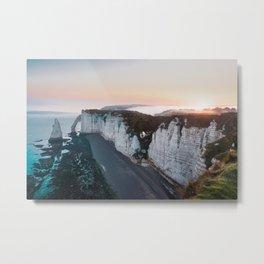Chalk Cliffs of Étretat, Normandy France Metal Print