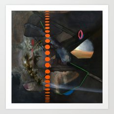 Extraterrestrial (oil on canvas) Art Print