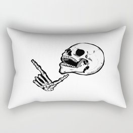 Finger Gun Skelly Rectangular Pillow