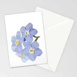 Forget Me Nots Low Poly Stationery Cards