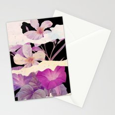 floral on torn paper Stationery Cards