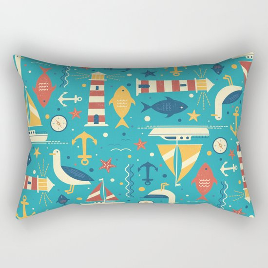 All At Sea Rectangular Pillow