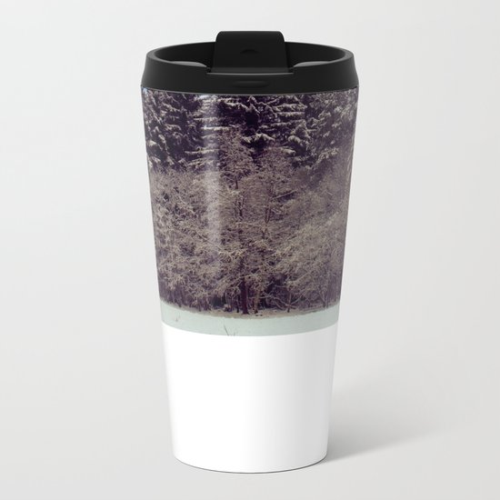 Christmas forrest Metal Travel Mug