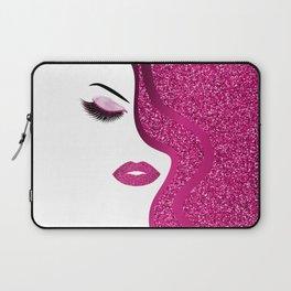 glittery woman Laptop Sleeve