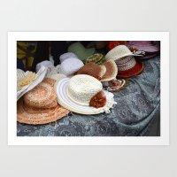 hats Art Prints featuring Hats by L'Ale shop