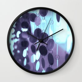 GLAM CIRCLES #Mint/Blue #1 Wall Clock