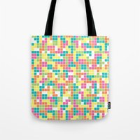 tetris Tote Bags featuring Tetris by Alisa Galitsyna