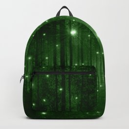 Glowing Emerald Green Forest Backpack