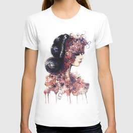 Flower Girl // Fashion Illustration T-shirt