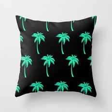 Palm Trees everywhere Throw Pillow