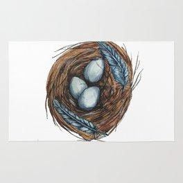 Blue Bird Nest Rug