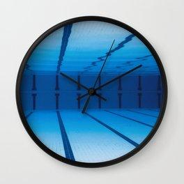 Underwater Empty Swimming Pool. Wall Clock
