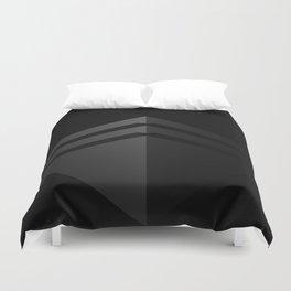 Black shape.3D Rendering Duvet Cover