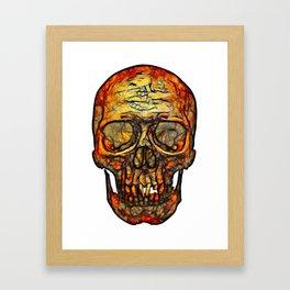 Hot Chemical Burn Skull Framed Art Print