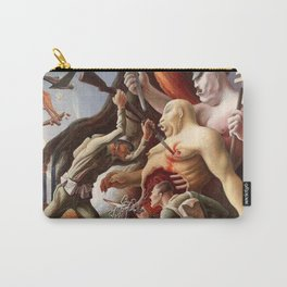 Classical Masterpiece WWII 'Exterminate' by Thomas Hart Benton Carry-All Pouch