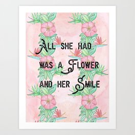 Surfer girl quotes Art Print
