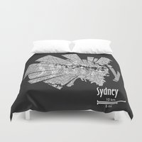 sydney Duvet Covers featuring Sydney by Shirt Urbanization