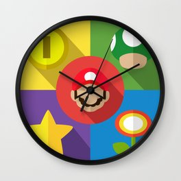 Super Mario flat Wall Clock