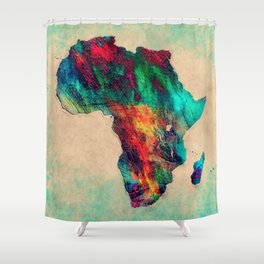 Africa color green Shower Curtain