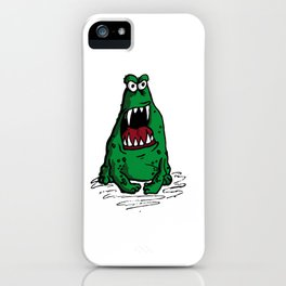 Mad Frog goin crazy iPhone Case