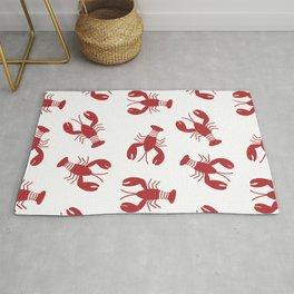 Red Lobster Pattern Rug