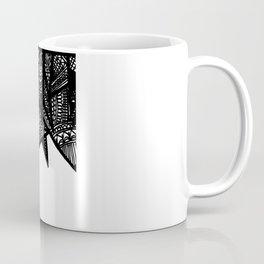 Triangle Henna Print- B+W Coffee Mug