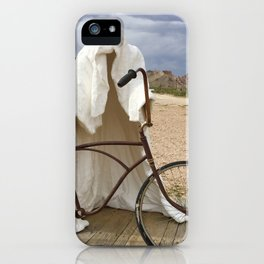 Ghost with bike iPhone Case